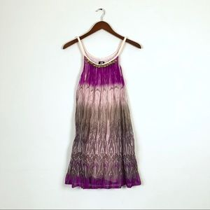 H&M Purple Ombré Crinkled Halter Dress
